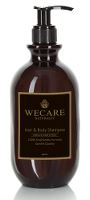 WeCare® Naturally Hair & Body Shampoo, Vanilla & Wheat Extract, svanemærket, 480 ml