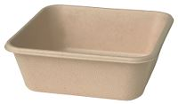 Duni Bagasse Meal boks, 155x155x53 mm, 900 ml