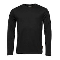 Worksafe T-shirt, langt ærme, sort, L