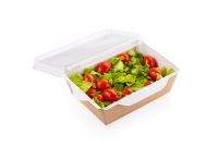 ECO Salad Box, salatbakke med transparent låg, hvid, 121x106x55 mm