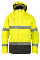 Worksafe Shell jakke, XL, hi-vis gul