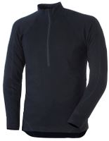 Flame Zip Neck, L, mørk marine