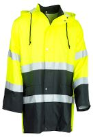 Worksafe Regnjakke, L, gul/sort