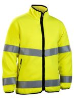 Worksafe Fleece jakke, L, hi-vis gul