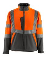 MASCOT® Kiama Softshelljakke, L, hi-vis orange/mørk antracit