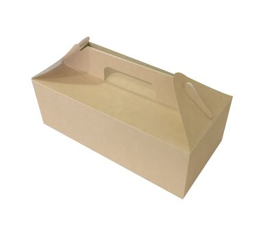ECO Fast Food Box, æske med håndtag, 288x142x98 mm