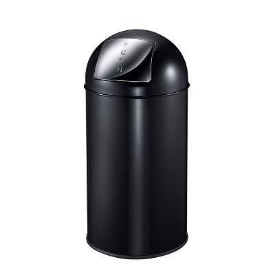 Efterstræbte WeCare® Affaldsspand m/vippelåg, sort, 40 ltr. | Stadsing A/S WS-91